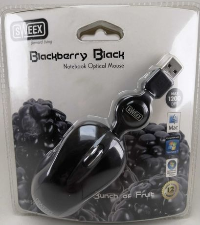 Rato Mini Sweex Blackberry Preto - NOVO