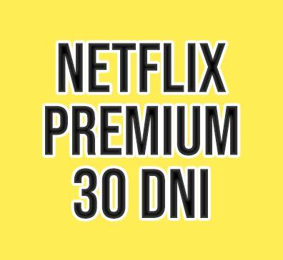 Netflix 4K/UHD Premium 30 DNI Gwarancji - Działa na Smart TV/PC