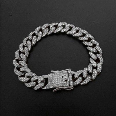 Мужской браслет из кубинской цепи в стиле Хип-Хоп 12.5мм размер 20.