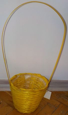 Kosz koszyk wiklinowy wielkanocny NOWY żółty