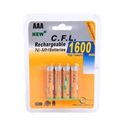 Pilhas recarregáveis 4x AAA 1600mAh 1.2v novas em caixa