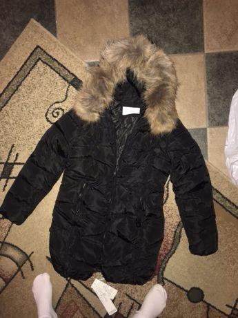 Новая куртка пуховик с натуральным мехом