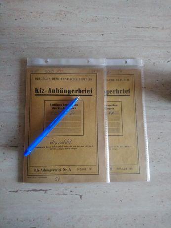Thk 5 hl przyczepa dokumentacja papiery dowód rej 6011