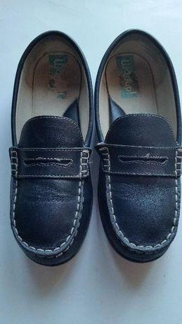 Sapatos vela Pele azuis escuros N37 e N35