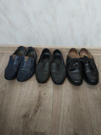 Туфли кожаные .34- 35 рр.