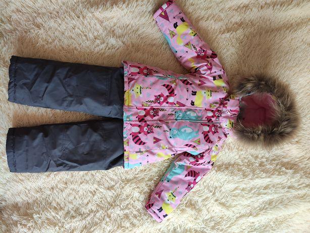 Зимняя куртка Lassye с комбезом на девочку рост 104 см