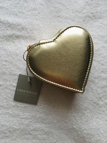 Pudełko/kosmetyczka na biżuterię w kształcie serca/nowe z metką
