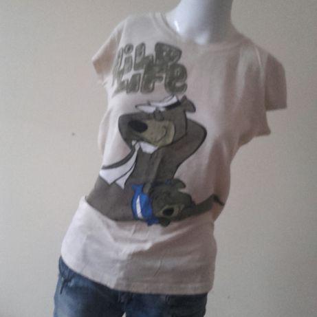 Oddam za czekolade Disney koszulka kremowa L miś Yogi