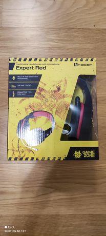 Słuchawki z mikrofonem Gamingowe Tracer GameZone Expert Red