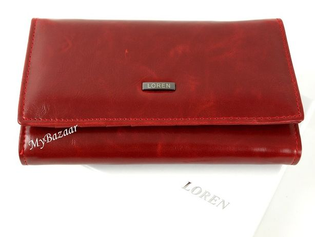 Damski skórzany portfel Loren 3 kolory WP04