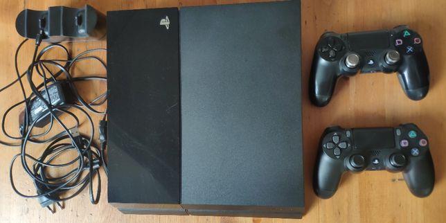 PS4, 2 pady, stacja dokująca. Metalowe analogi, PLAYSTATION 4
