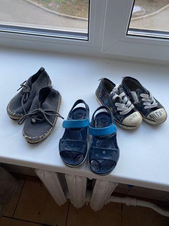 Отдам 3 пары б/у обуви crocs и две пары zara