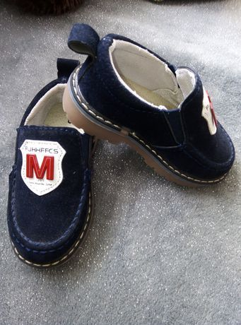 Туфли детские замш