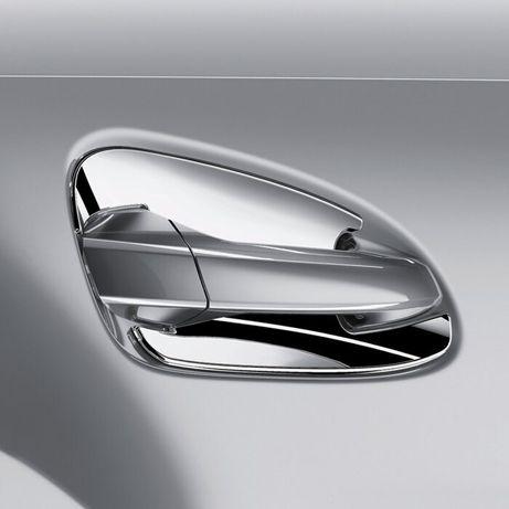 Накладки под ручки хром A1667600000 Mercedes ML-GL, GLE-GLS X166
