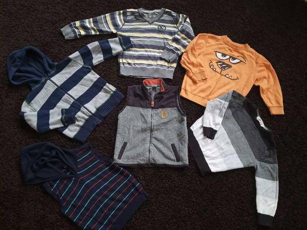 Sweterki rozm 98 swetr sweterek bluzeczki koszulka chłopięce paka