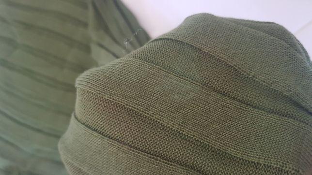 Sweterek zielony cieniutki Zara rozm. S