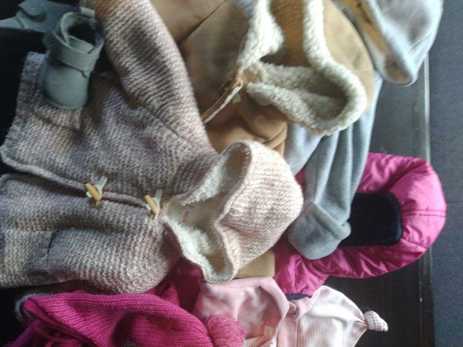 Zestaw paka ubranek 68 Zara płaszcz spodnie sweter Żywiec - image 1