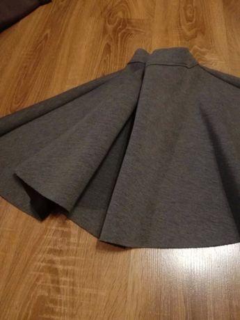 Piękna spódnica na kole szara r. L