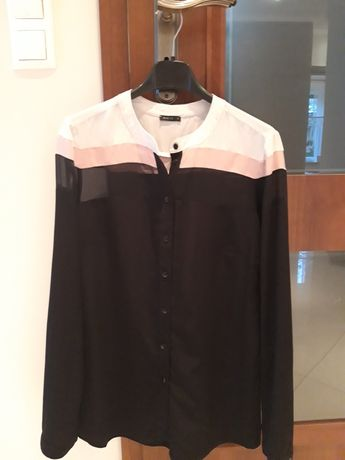 MOHITO elegancka bluzka koszula mgiełka 36 S