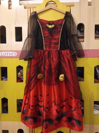 Карнавальное платье на Новый год в стиле Halloween, 116-134