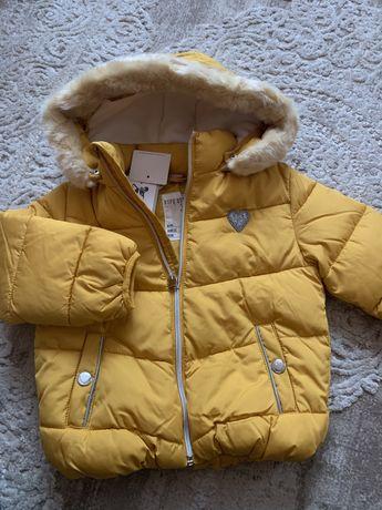 Стильна куртка   тепла 92-98 для дівчинки (Next, Pepco)