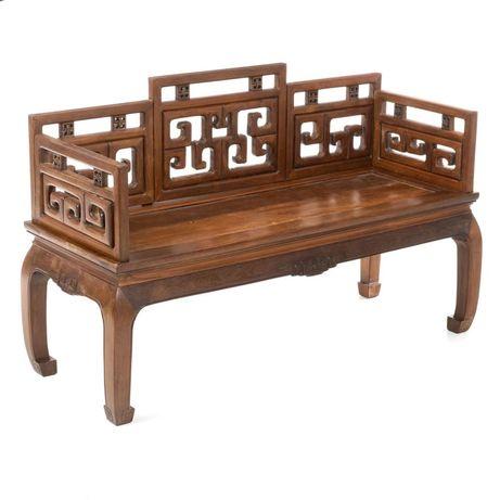 Canapé chinês madeira exôtica entalhada
