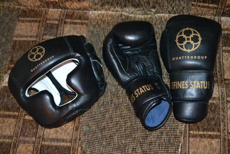 Продам новые кожаные перчатки 12 унций oz и кожаный шлем для бокса