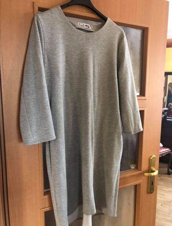 Szara sukienka luźna Ryłko