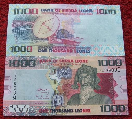 SIERRA LEONE 1000 LEONES Kolekcjonerski Banknot - 1 sztuka UNC