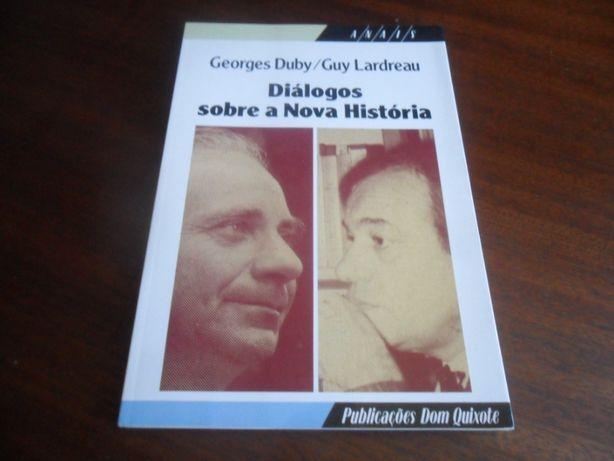 """""""Diálogos sobre a Nova História"""" de Georges Duby e Guy Lardreau 1ª Ed"""