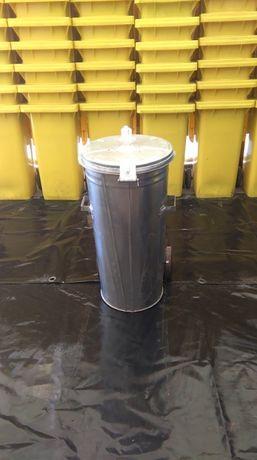 Pojemniki na odpady 110l ocynowany nowy kosz kubeł kontener na śmieci
