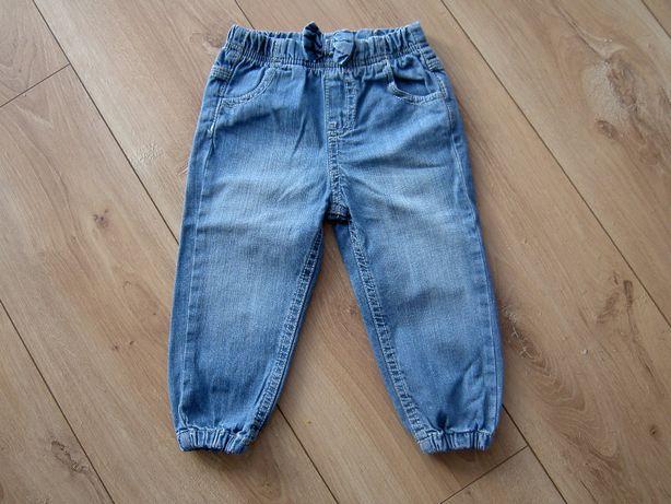 Spodnie, spodenki jeansowe dla dziewczynki rozmiar 86