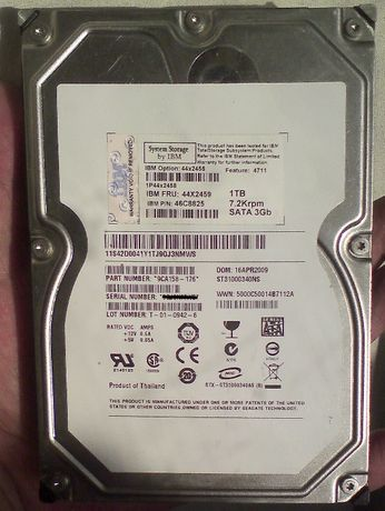 Серверный HDD IBM 44X2458 1TB SATA на запчасти или под списание