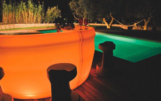 Lampa typu BAR, ogrodowa, duży, podświetlenie LED. MADE IN ITALY