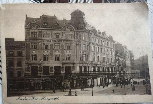 Stare pocztówki 1912, 1918, 1939 przedwojenne, Pilsn, Lwów, Myślenice