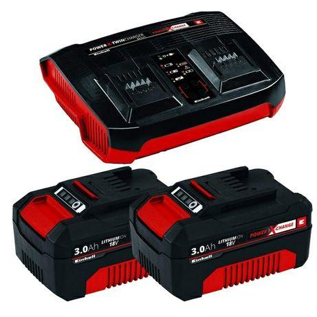 Два аккумулятора + зарядное устройство EINHELL 18V 2x3.0Ah Twincharger
