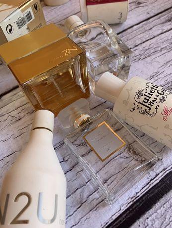 Пустые флаконы от духов/парфюмов Shiseido, Calvin Klein, Ricci, Hermes
