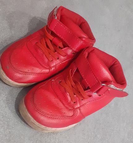 Buciki wysokie czerwone adidaski tenisówki rozmiar 28