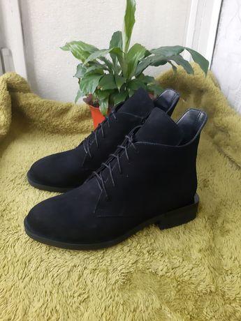 Ботинки велюровые