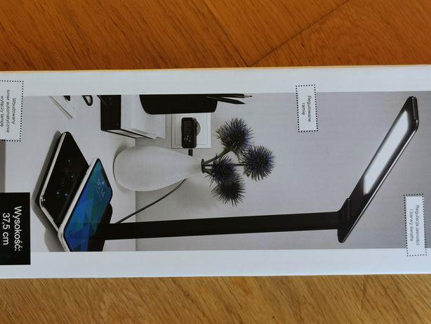 lampka biurkowa z ładowarką indukcyjną i ładowarką/wejściem USB