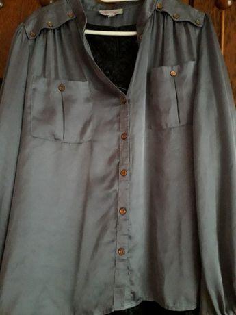 bluzka damska koszula srebro