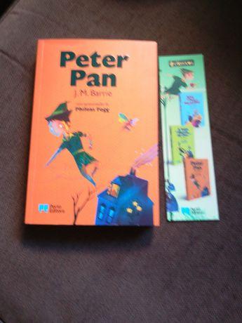 Peter Pan J. M. Barrie com marcador