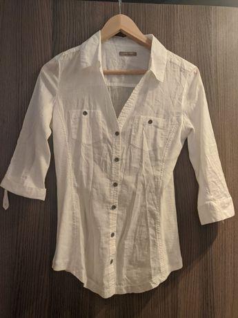 Biała koszula orsay rękaw 3/4 S