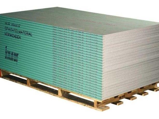 Płyta GK gips-karton Woda Wodoodporna 12,5mm 1,2mx2,6m KNAUF