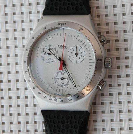 """De coleção: Cronógrafo Swatch 1996 """"Time Cut"""" Irony Chrono Aluminium"""