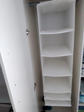 Wisząca półka Ikea SKUBB 6 przegródek biała