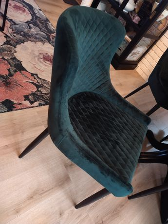 Krzesło kubełkowe x4,butelkowa zieleń