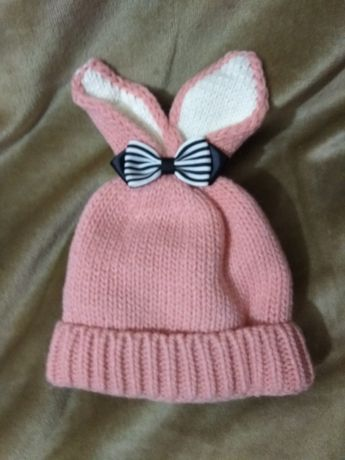 Зимняя шапка, шапка с ушками, шапка для девочки