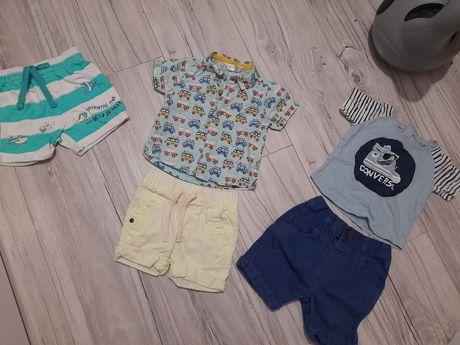 Zestaw szorty spodenki koszulka T shirt Polo next Ralph Lauren 74 80
