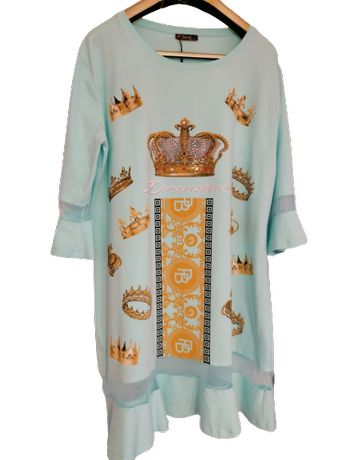 Plus Size*Piękna sukieneczka *Piękny kolorek*Styl hiszpański* 2XL/5XL